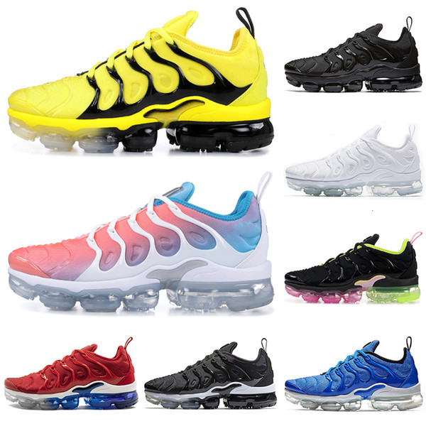 2019 New Arrival TN Plus BUMBLEBEE running shoes for men women triple black white Lava Glow red mens designer shoe trainers sports sneakers