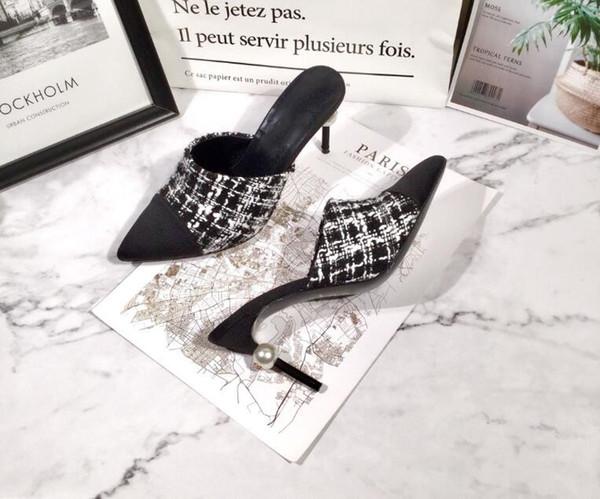 Designer Sandaletten Leder mit grobem Absatz Klassische Damenschuhe Metallschnalle für Partys und Bankette Luxus Sexy Sandalen Größe 35-41