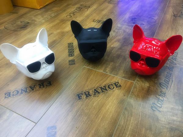 Bull Dog Galvanisieren Mini Tragbare Drahtlose Bluetooth 4.2 Radio Karte Audio Lautsprecher Spezielles Design Hundekopf Lautsprecher Subwoofer Geschenk