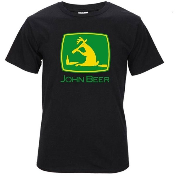 Джон пиво 3D печатных Men100% хлопок футболки джинсовая одежда camiseta футболка cattt ветровка Мопс футболка козырь пота sporter футболка