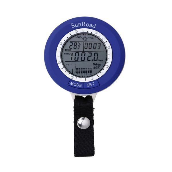 SUNROAD 온도계 고도계 낚시 손목 시계 남성 기압계 IPX4 어군 탐지기 시계 팬 Reloj 험 브레 Y200113 낚시