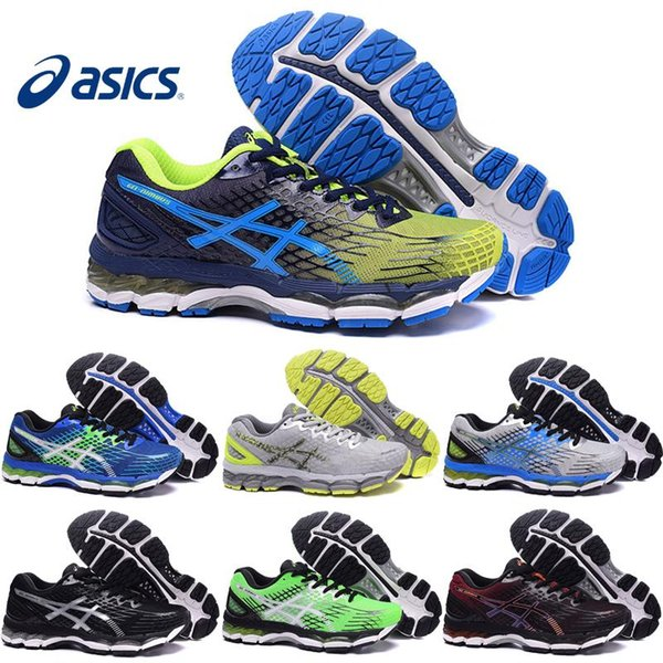 promo code a72fc 419b4 ASICS Gel Nimbus 17 XVII Men Running Shoes Top Quality Cheap Training  Breathable Men'S Walking Outdoor Sport Shoes Size 7 Wedge Shoes Walking  Shoes ...