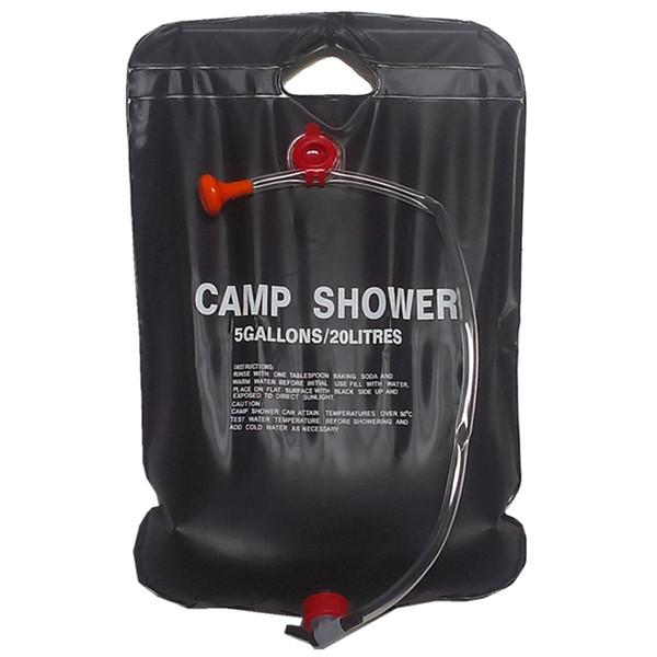 top popular Solar Shower Camp Shower Bag 20 liters black 2019
