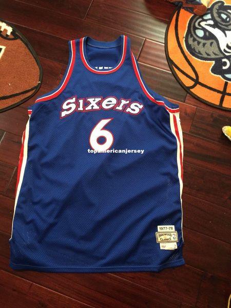 Mitchell And Ness Sewn #6 Julius Erving Dr. J Jersey Mens Vest Size XS-6XL Stitched basketball Jerseys Ncaa