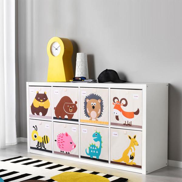 3D Embroider Cartoon Animal Foldable Storage Box kid Toy organizer Clothes Storage Bin for Socks Underwear Ties Bra desktop box