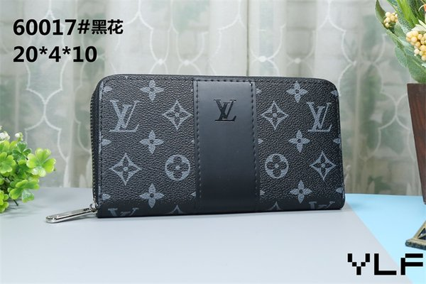 best selling 2019 brand new PU Leather women/men wallets purse card Holders (12 color for pick) famous desinger handbags LXY60017-1