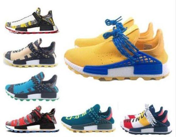 Human Race Hu trail pharrell williams uomo scarpe da corsa Nerd black cream Holi mens trainer donna 2018 designer sports runner sneakers 36-47