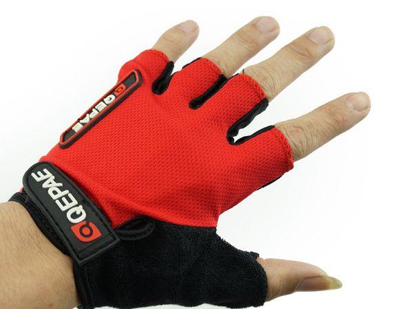 QEPAE Half Finger Non-Slip Gel Pad Gloves Men/'s Women/'s Cycling Gloves Blue