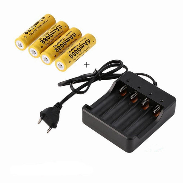 heap Rechargeable Batteries 4pcs lot High Quality 18650 3.7V 9800mAh Lithium ion batteries Rechargeable Battery For Flashlight Torch lase...