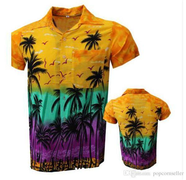 Designer Mens Summer Beach T-shirts de manga curta Standing Flor Collar Imprimir Moda Vestuário Trade Vestuário Descontraído solto