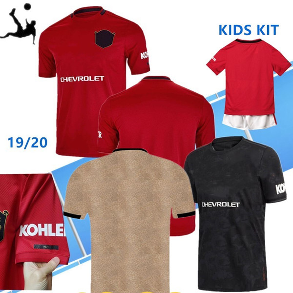 Thailand FC manchester POGBA soccer jersey 2019 2020 LINGARD LUKAKU RASHFORD football shirt united UtD 19 20 uniforms man + kids kit jerseys