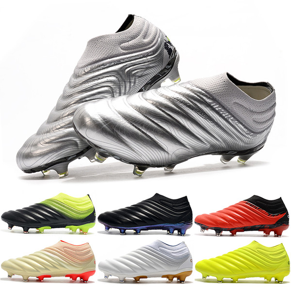 top popular New Arrival Copa 20+ FG Mens Soccer Shoes 19 Black Mercurial Superfly Football Boots Boys Outdoor Sports Mundial Soccer Cleats Shoes EF8309 2020