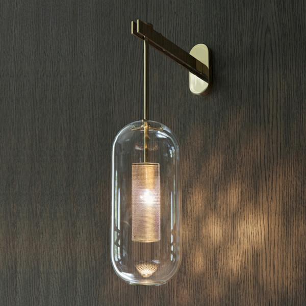 Acheter Italie Design Applique Murale Scone Noir Or Chambre Lampe De Chevet Lumière Miroir Décoration Intérieure Lampes De Mur Intérieur Moderne