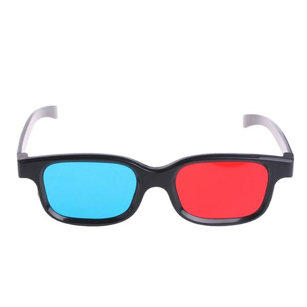 Universal Preto Quadro Vermelho Azul Ciano Anaglyph Óculos 3D 0.2mm Para O Filme Jogo DVD Atacado Frete Grátis
