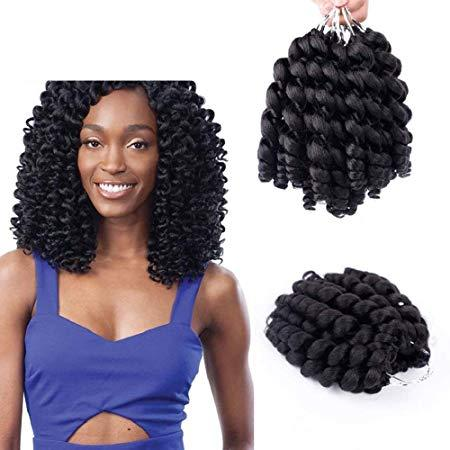 Wand Curl Twist Crochet Braids Jamaican Bounce African Synthetic Braiding Hair High Temperature Fiber Synthetic Hair Extensions