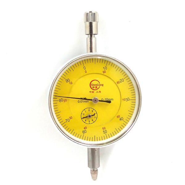 top popular Dial Indicator Gauge 0-10mm Meter Precise 0.01Resolution Concentricity Test PTSP With Lug Back Measurement Gauge Micrometer 2021