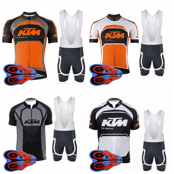 Команда KTM дышащая мужская быстросохнущая шорты с коротким рукавом с нагрудником на открытом воздухе Спортивные комплекты джерси с короткими рукавами с короткими рукавами и нагрудниками S83122