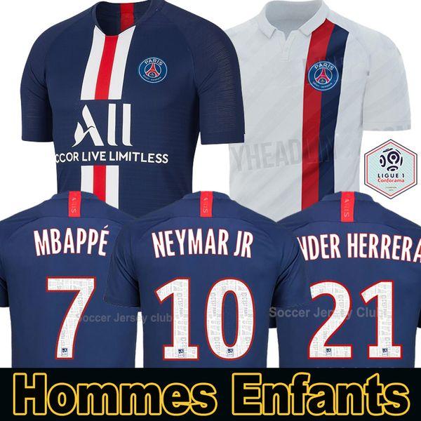 19 20 PSG camisas de futebol Paris Saint Germain NEYMAR JR MBAPPE SARABIA ANDER HERRERA CAVANI AIR JORDAN 2019 2020 goleiro campeões jersey homens mulheres crianças kits conjuntos