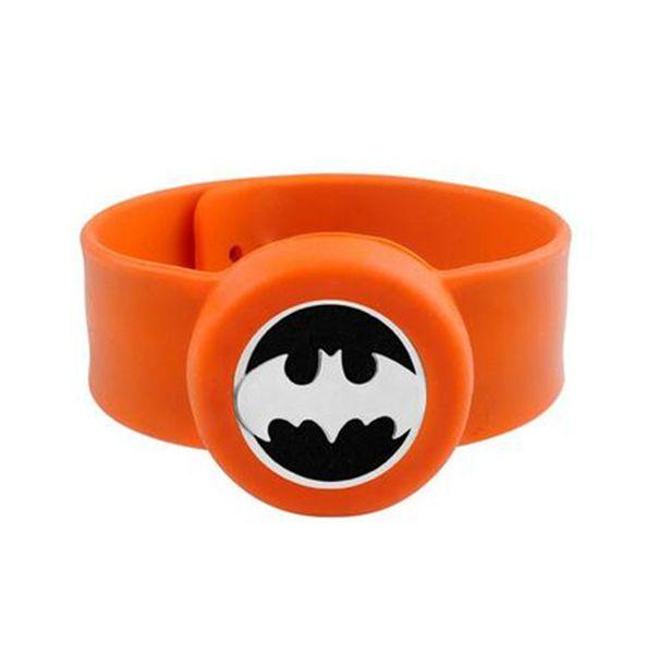 batman Kids Adjustable 25mm Mosquito Repellent Bangle Essential Oil Diffuser Bracelet Children Men Women Silicone Bracelets