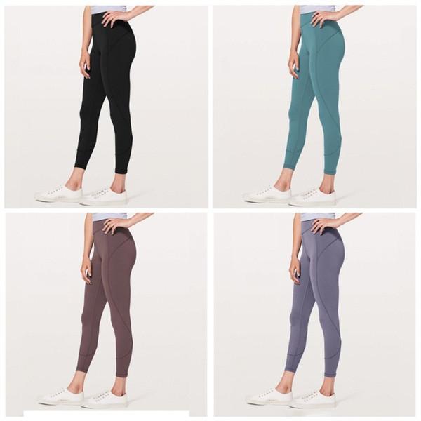 Yoga Tayt Yüksek Bel Kalça Pantolon Dokuz Puan Kadınlar Yaz Pantolon Naylon Elastik Kuvvet Terleme Siyah Kırmızı Yumuşak 44 s