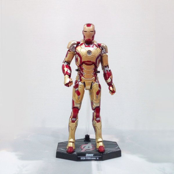 Iron Man Tony Stark Cartoon Film giocattolo del PVC Action Figure Modello regalo vendicatori HC Iron Man MK42 modello giocattolo