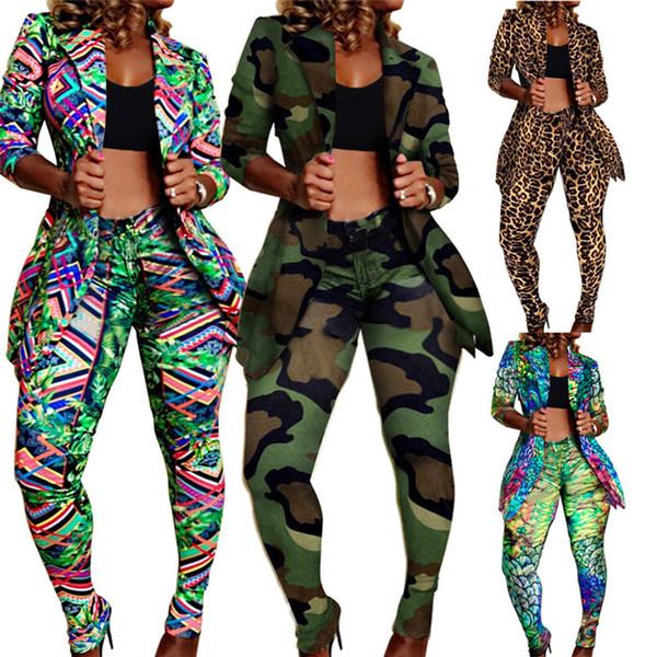Frauen Plus Size Jacket Anzüge 2-teiliges Set Gamaschen Outfits Sport Anzug Ganzkörperanzug Oberbekleidung Capris Herbst Winter Sexy Kleidung 1826