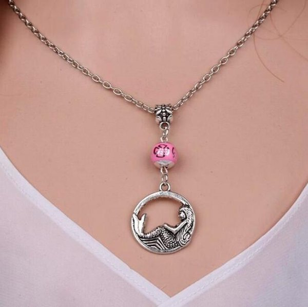 Vintage Bronze Big Octopus Silver Mermaid Tortoise Necklace Pendant Charms Choker Necklace For Woman Accessories HOT 10pcs L10