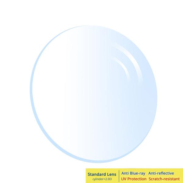 43563cbda Homens Mulheres Miopia Hipermetropia Astigmatismo Anti-reflexiva Luz Azul  1.56 1.67 1.74 Fina Lente