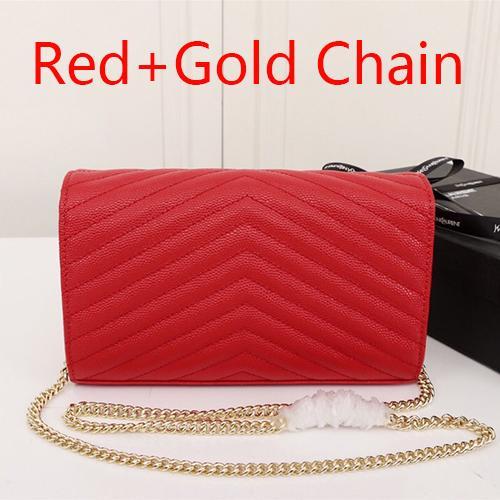 Красная + золотая цепочка(поставляется с Y_S_L)