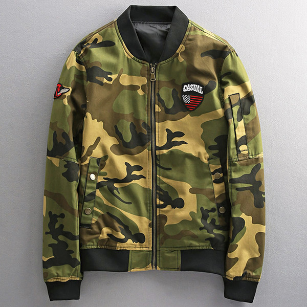 Spring Casual Fashion Camouflage Air Man Jackets and Coats European and American Style Jacket Male Streetwear XXXL A543