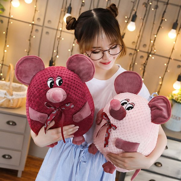 1pc 20/26/35/46cm Kids Kawaii Cute Mouse Soft Plush Cartoon Animal Small Mouse Stuffed Toy Doll Valentine's day Birthday Gifts