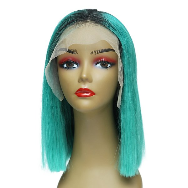 Bob Lace Front Human Hair Wigs With Baby Hair Pre Plucked Remy Hair Full End Straight Short Bob Wig For Black Women