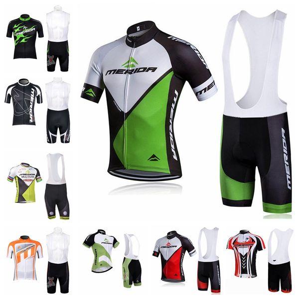 MERIDA team Cycling Short Sleeves jersey bib shorts sets Men's comfortable summer wear-resistant windproof outdoor sports Jersey suit S