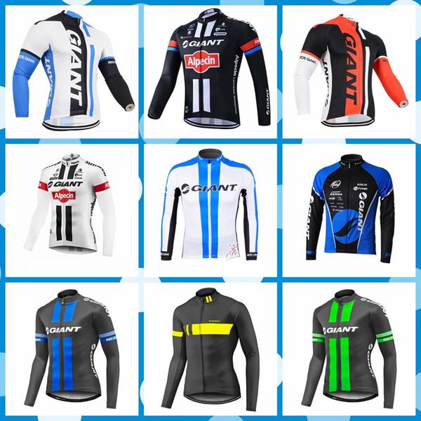 GIANT команда Велоспорт Джерси спорт на открытом воздухе Велосипедная рубашка / Велосипедные топы мужские Длинные рукава езда на велосипеде одежда Q80820