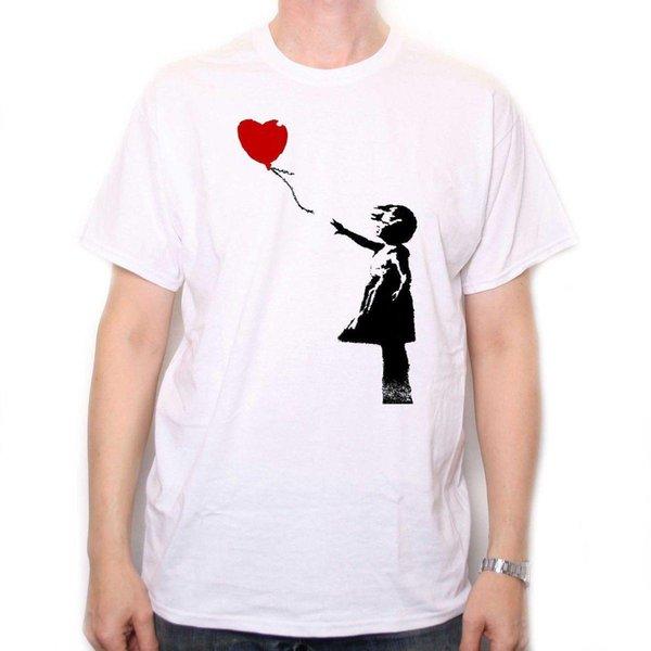 Camisa de Banksy T - menina de balão arte de rua clássico Graffiti Compre 3 Get 1 grátis