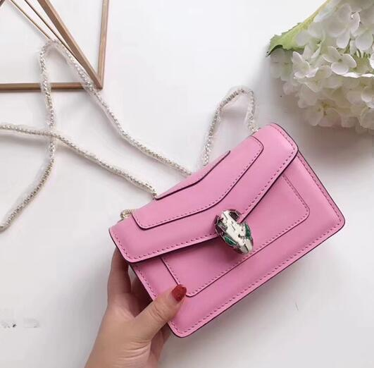 Summer New Small Bag Female 2018 Portable Fashion Genuine Leather Solid Colour Thread Ladies Shoulder Korean Version Of The Wild Tide