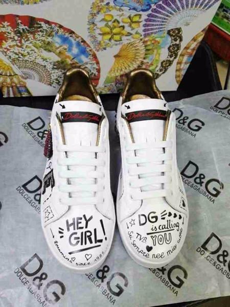 abdaf5215 Novas senhoras sapatos casuais Lantejoulas de pérola casal modelos  Importados primeira camada de couro Primeira camada de forro de pele de  carneiro