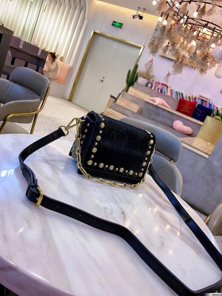 2019 nuevo lujo grandes marcas de moda bolsas de diseñador de bolsos monederos mujeres de la carpeta bolso de la piel de cuero genuino bolso negro crossbody