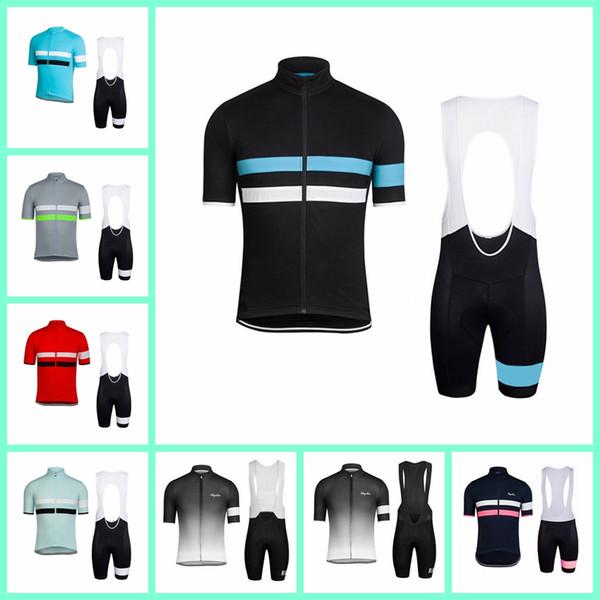 RAPHA team Велоспорт с короткими рукавами и трикотажными шортами-нагрудниками Лето Высококачественная дышащая быстросохнущая короткая рубашка и шорты-нагрудники 841306
