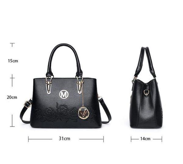 2019 hot Designer handbags Women's Top-handle Cross Body Handbag Middle Size Purse Durable Leather Tote Bag Ladies Shoulder mk#Bags