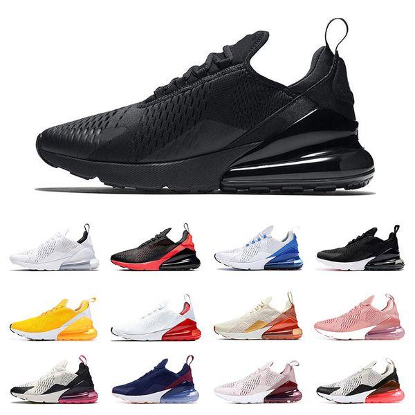 nike air max 270 koşu ayakkabıları erkekler için üçlü siyah beyaz pembe Şarap bayan spor sneakers trainer Nefes vintage moda boyutu 36-44