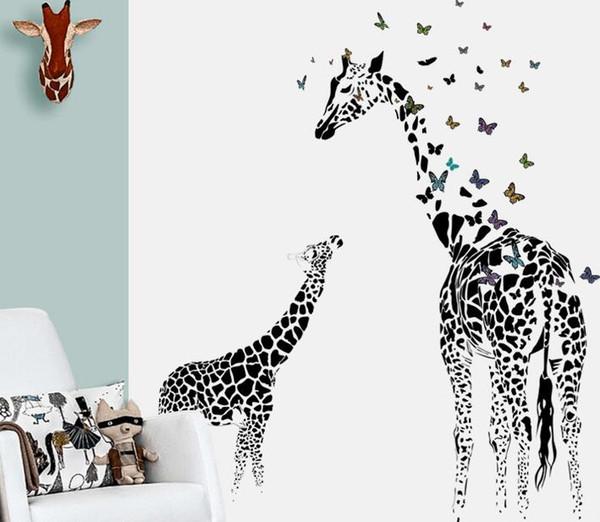 Spedizione gratuita Castello dei sogni Animali colorati Rimovibile Home Decor Adesivo Sticker per i bambini Nursery Decoration