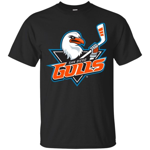Black T shirt- San Diego Gulls shirt for men, size S-6XL