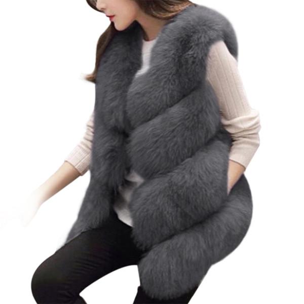 Hot Winter Women Faux Fox Fur Jacket Coat Thick Warm Short Fur Coat Women Soft Jacket Outwear Vest 3XL Plus Size Lady Tops