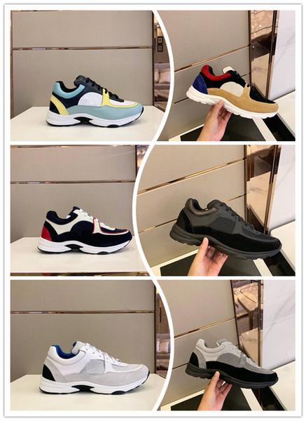 Sıcak SATıŞ Erkekler Tasarımcı Rahat Ayakkabılar Mix Renk gerçekten Deri klasik baba Sneakers Ile Sneakers Moda Eğlence Ayakkabı rahat erkekler ayakkabı kutusu