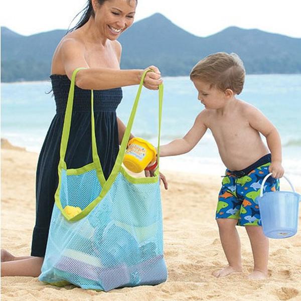 Mesh Bag Mom Baby Bambini Indoor Outdoor Beach Bag Bambini Bambini Portable Beach Storage