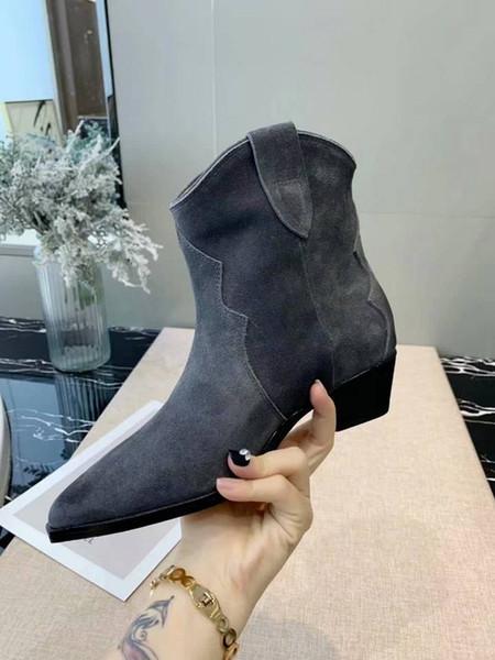 Международные Именитые дизайнерские туфли новые матовой кожи лица случайные ретро сапоги классические ботинки низкой пятки остроконечные дамы моды 35-40