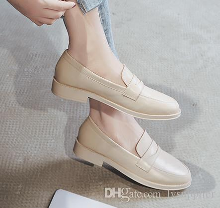 LL28 Popular womens fashion Comfortable shoes newest style ladies flat shoes high quality leather soft soles shoes with box