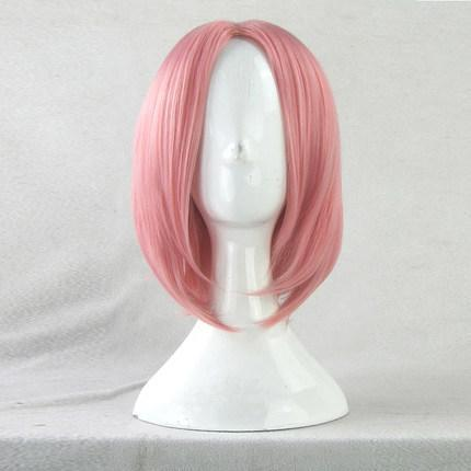 Naruto Haruno Sakura de cereja rosa Styled peruca de calor Resistente cabelo sintético Anime Cosplay Wigs