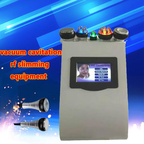 Home Body Facial Shaping Ultrasonic Cavitation Vacuum Sextupole Quadrupole Tripolar RF Radio Frequency Skin Tighten Slimming Machine